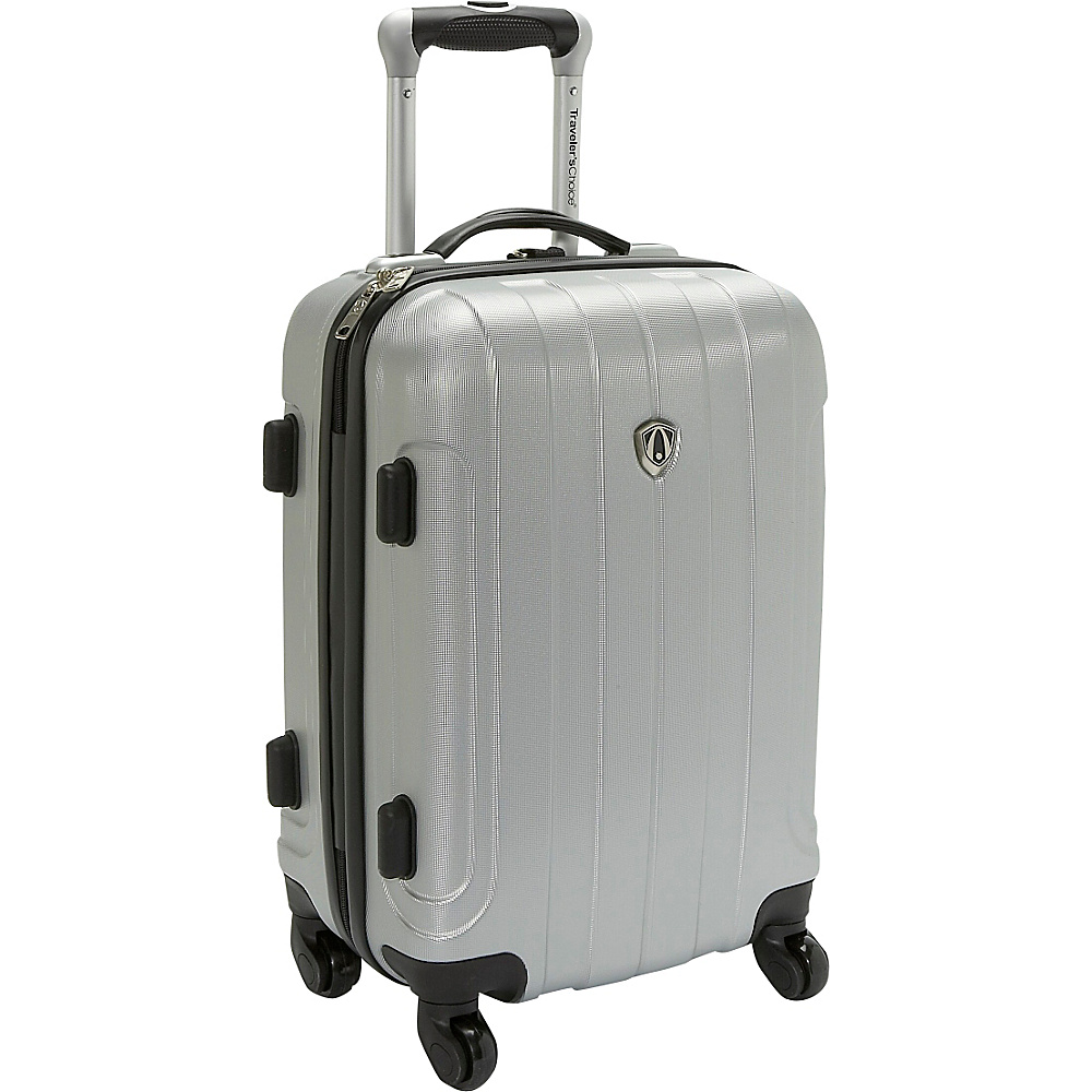 Travelers Choice Cambridge Hardsided Spinner Luggage - 20 Silver Grey - Travelers Choice Hardside Carry-On - Luggage, Hardside Carry-On