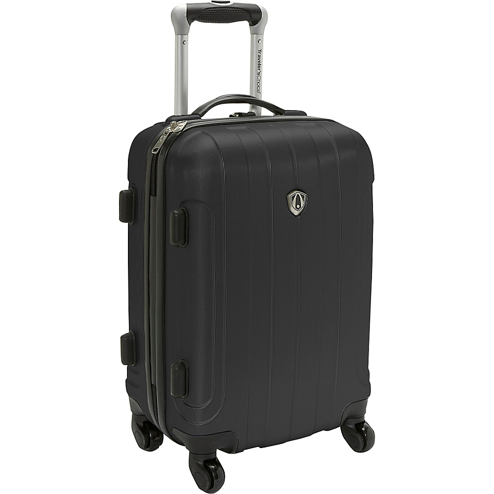 Travelers Choice Cambridge Hardsided Spinner Luggage - 20 Black - Travelers Choice Hardside Carry-On - Luggage, Hardside Carry-On