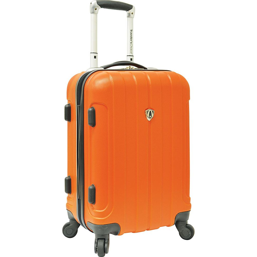 """Traveler's Choice Cambridge Hardsided Spinner Luggage - 20"""" Orange - Traveler's Choice Hardside Carry-On"""