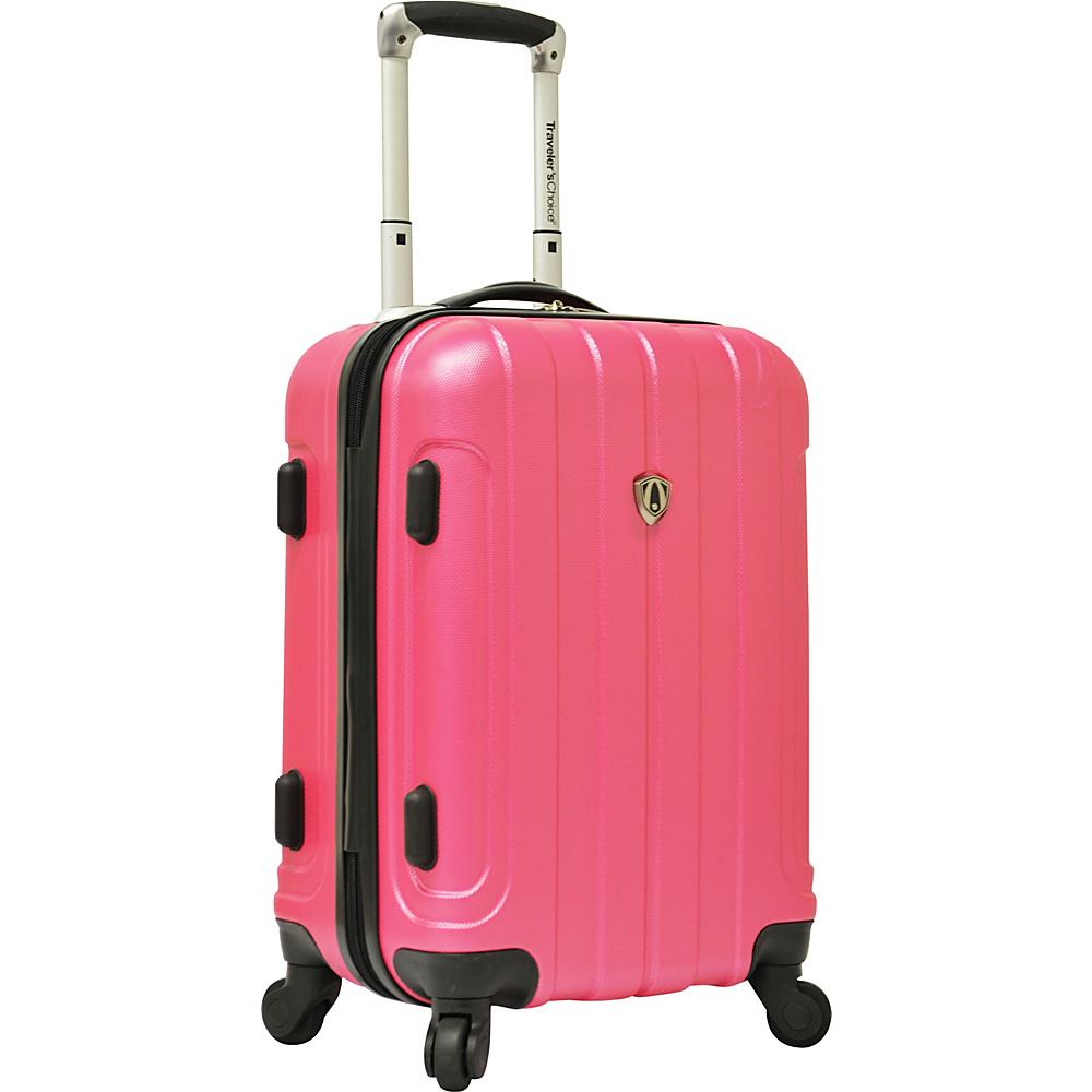 Traveler's Choice Cambridge 20 in. Hardsided Spinner Pink - Traveler's Choice Hardside Luggage