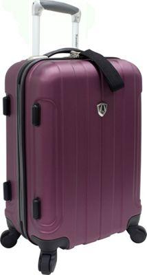 Traveler's Choice Cambridge Hardsided Spinner Luggage - 20 inch Plum - Traveler's Choice Hardside Carry-On