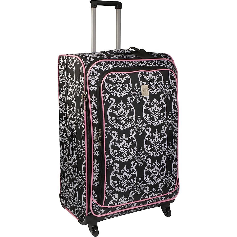 Jenni Chan Damask 28 Spinner - Black Pink - Luggage, Softside Checked