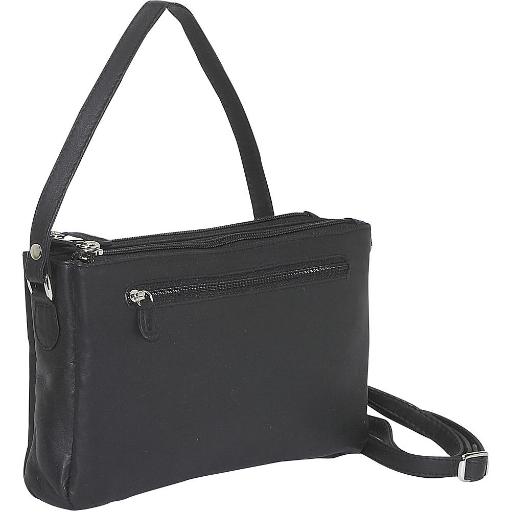 Derek Alexander EW Top Zip Organizer - Black - Handbags, Leather Handbags