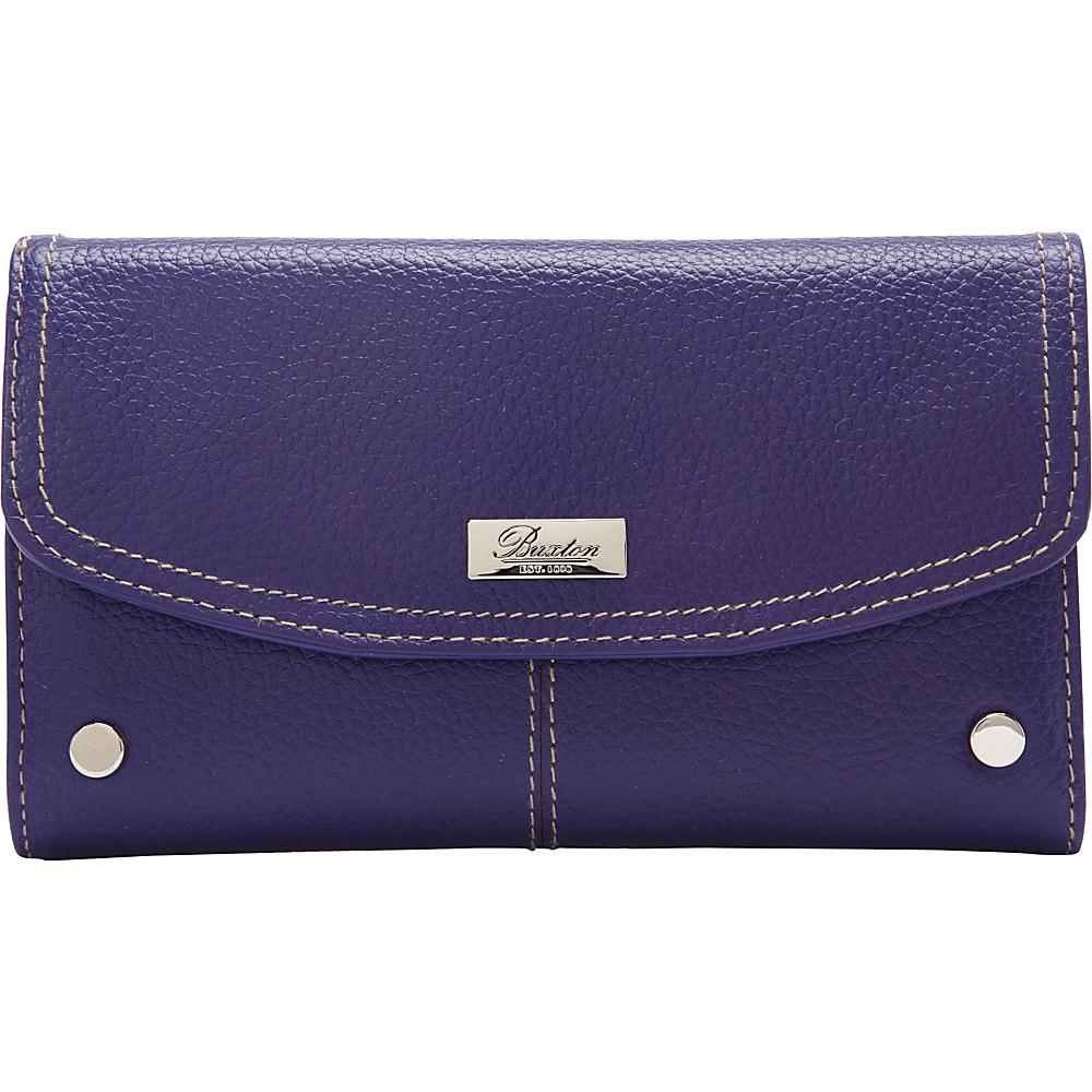 Buxton Westcott Checkbook Clutch Mulberry - Buxton Womens Wallets - Women's SLG, Women's Wallets