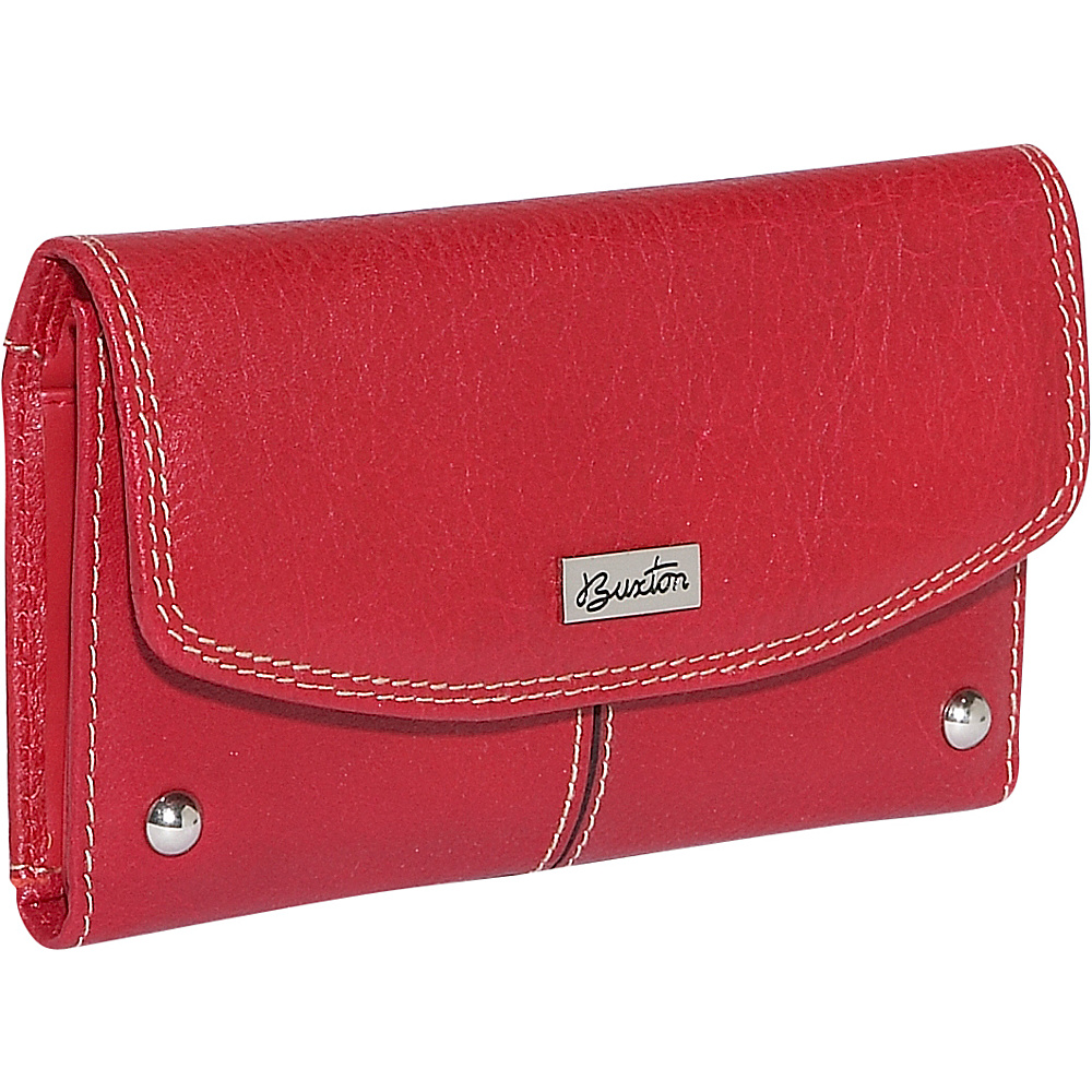 Buxton Westcott Checkbook Clutch - Red - Women's SLG, Women's Wallets