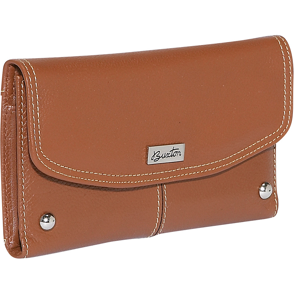 Buxton Westcott Checkbook Clutch - Tan - Women's SLG, Women's Wallets