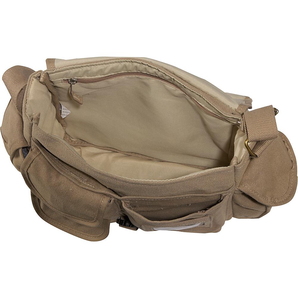 Everest Cotton Canvas Messenger Bag - Khaki