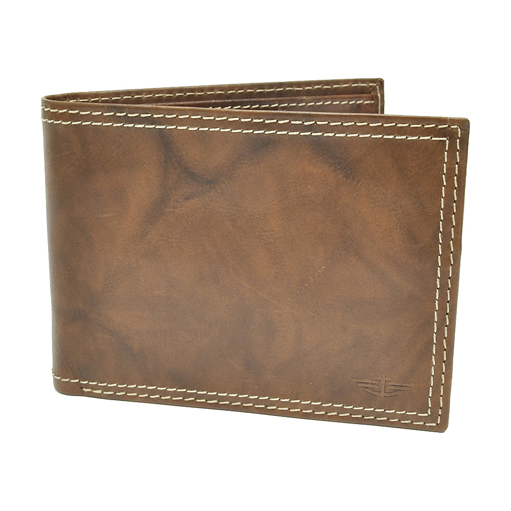 Dockers Wallets Extra Capacity Slimfold Wallet - Brown - Work Bags & Briefcases, Men's Wallets