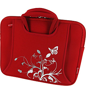 "Spring Butterfly Sleeve Case for iPad, 10"" - 11.6"" Netbooks Red"