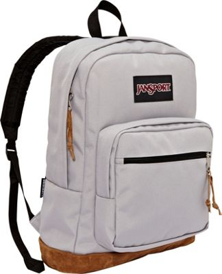 JanSport Right Pack Laptop Backpack - 15 inch Grey Rabbit - JanSport Business & Laptop Backpacks