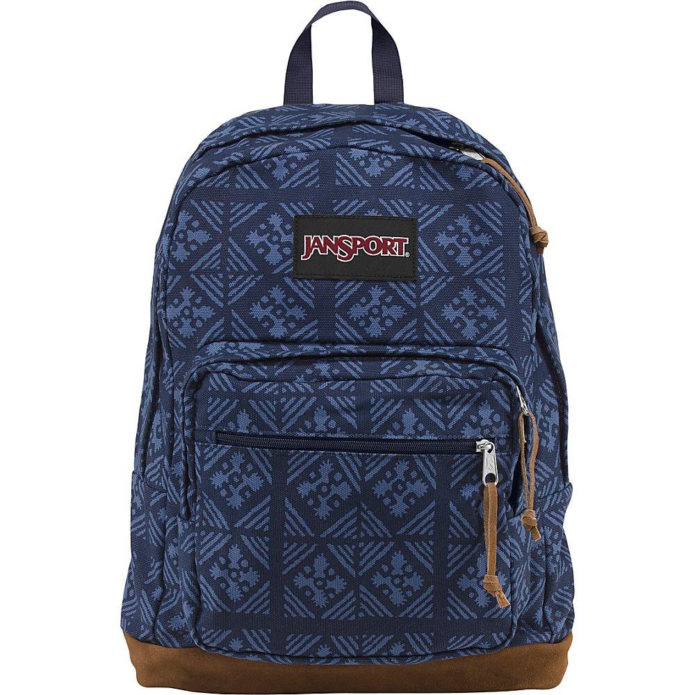 JanSport Right Pack Laptop Backpack Blue Indigo Adire - World Collection - JanSport Laptop Backpacks - Backpacks, Laptop Backpacks