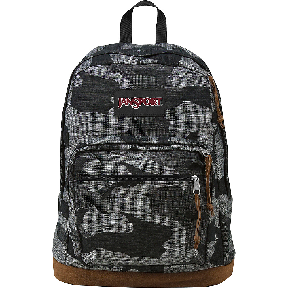 JanSport Right Pack Laptop Backpack Grey Denim Camo Jacquard - Expressions - JanSport Laptop Backpacks - Backpacks, Laptop Backpacks