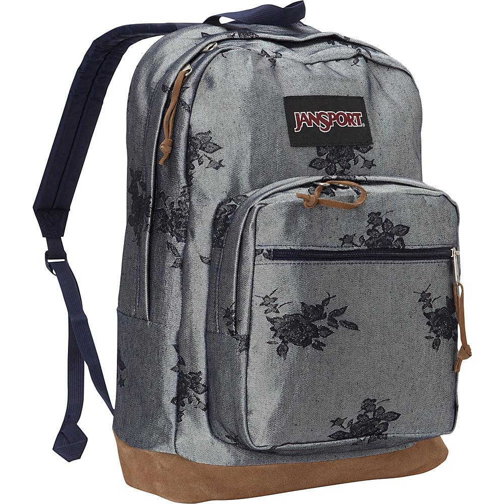 JanSport Right Pack Laptop Backpack Silver Rose Jacquard - JanSport Laptop Backpacks - Backpacks, Laptop Backpacks