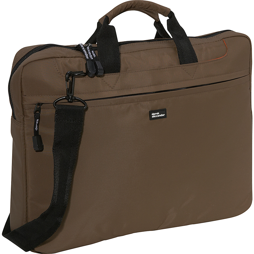 Derek Alexander Slim Computer Brief - Taupe - Work Bags & Briefcases, Non-Wheeled Business Cases