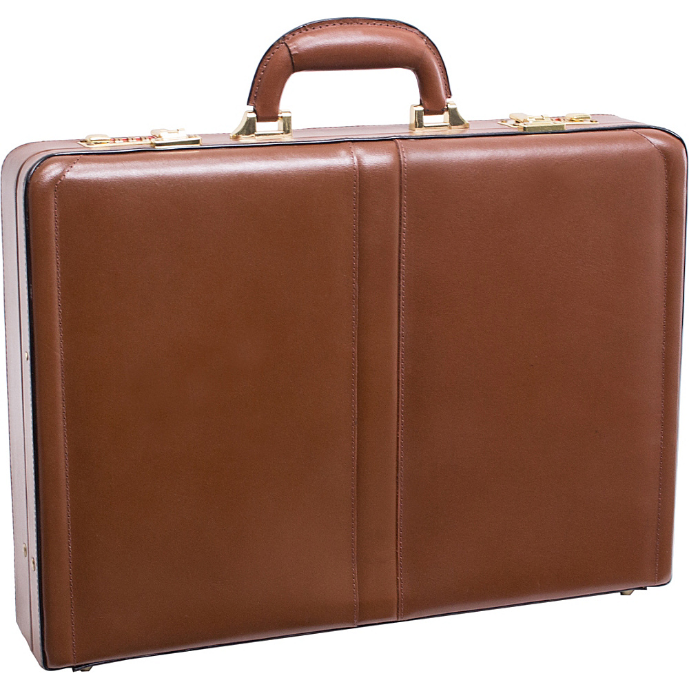 McKlein USA Reagan Leather Attache Case - Brown - Work Bags & Briefcases, Non-Wheeled Business Cases