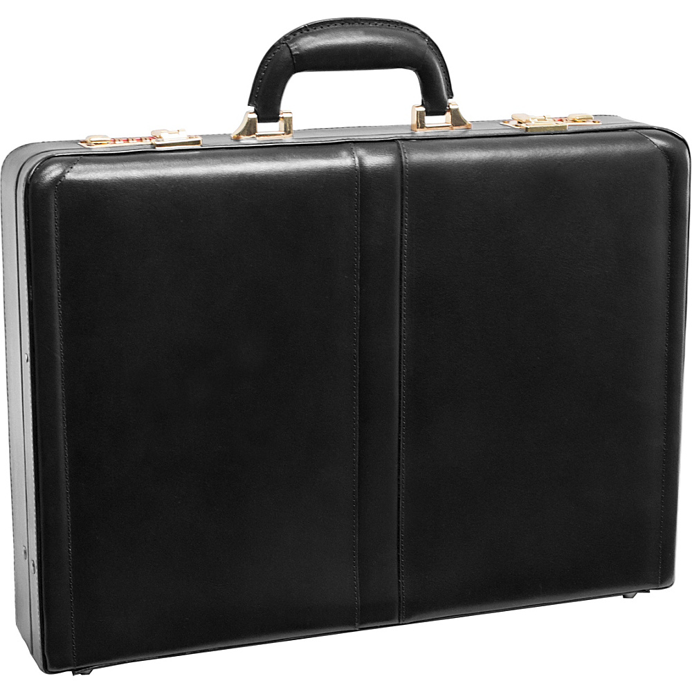McKlein USA Reagan Leather Attache Case - Black - Work Bags & Briefcases, Non-Wheeled Business Cases