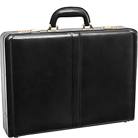 Reagan Leather Attache Case Black