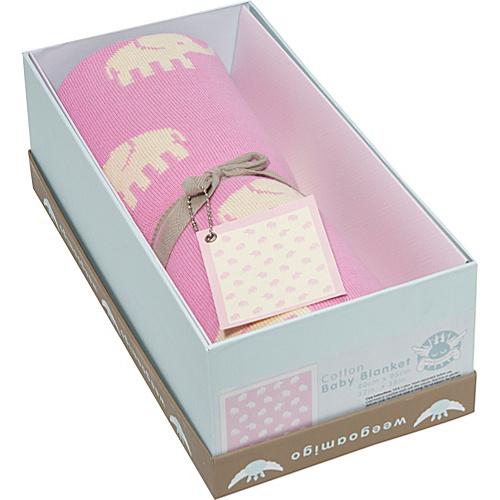 OiOi Weegoamigo Pink Stampede Baby Blanket - Pink/White