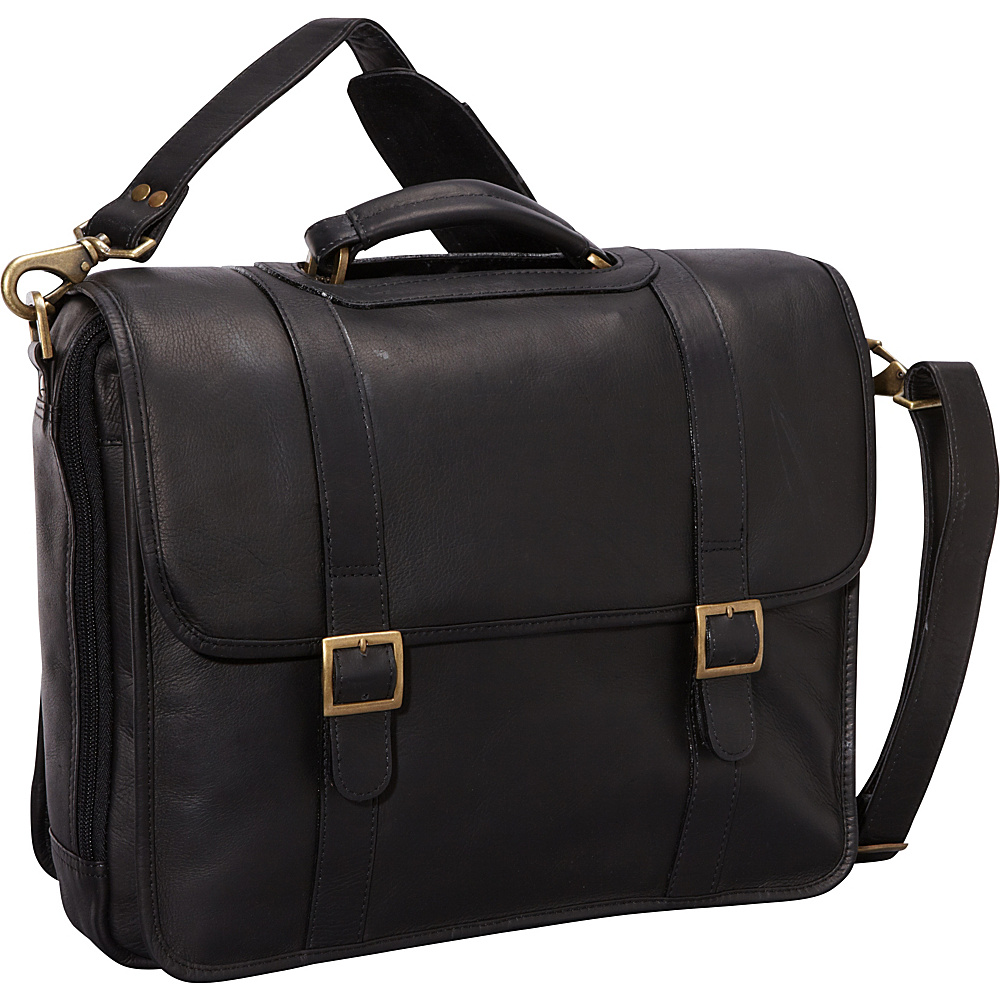 ClaireChase Porthole Style Laptop Briefcase - Black - Work Bags & Briefcases, Non-Wheeled Business Cases