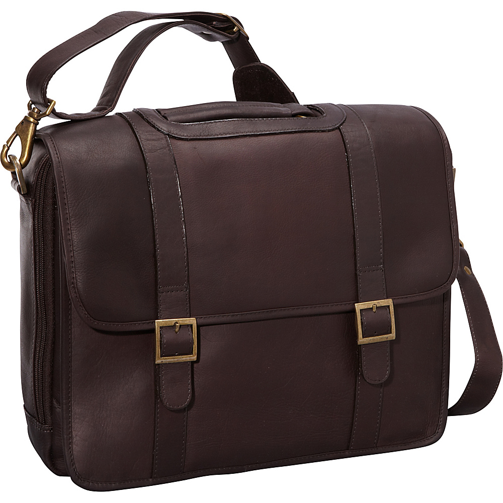 ClaireChase Porthole Style Laptop Briefcase - Cafe - Work Bags & Briefcases, Non-Wheeled Business Cases