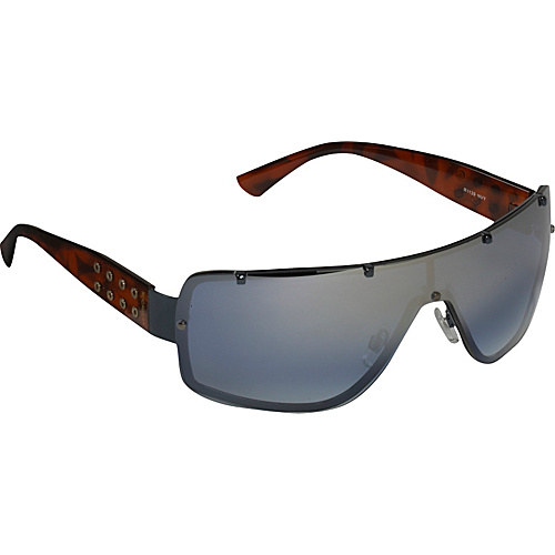 Rocawear Sunwear Back-Frame Shield Sunglasses - Navy