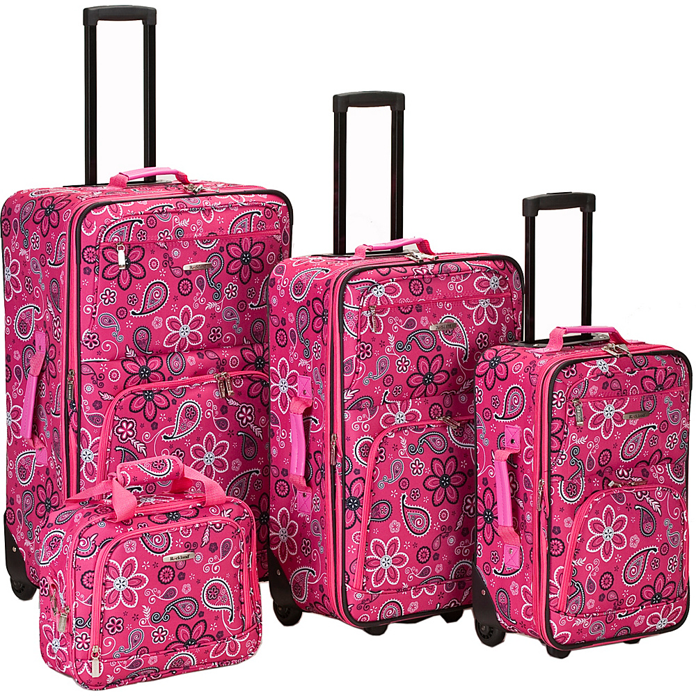 Rockland Luggage 4 Piece Nairobi Luggage Set - Pink - Luggage, Luggage Sets