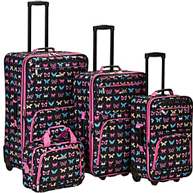 4 Piece Nairobi Luggage Set Butterfly