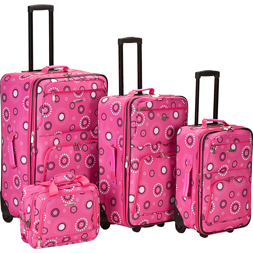 Rockland Luggage 4 Piece Nairobi Luggage Set - Pink