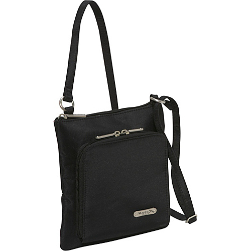 Travelon RFID Blocking Slim Shoulder Bag Black - Travelon Fabric Handbags