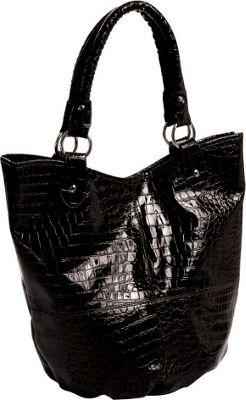 Parinda Adria Tote 4 piece set Black - Parinda Manmade Handbags