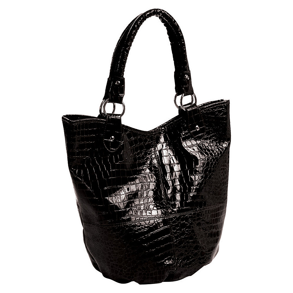 Parinda Adria Tote 4 piece set Black - Parinda Manmade Handbags