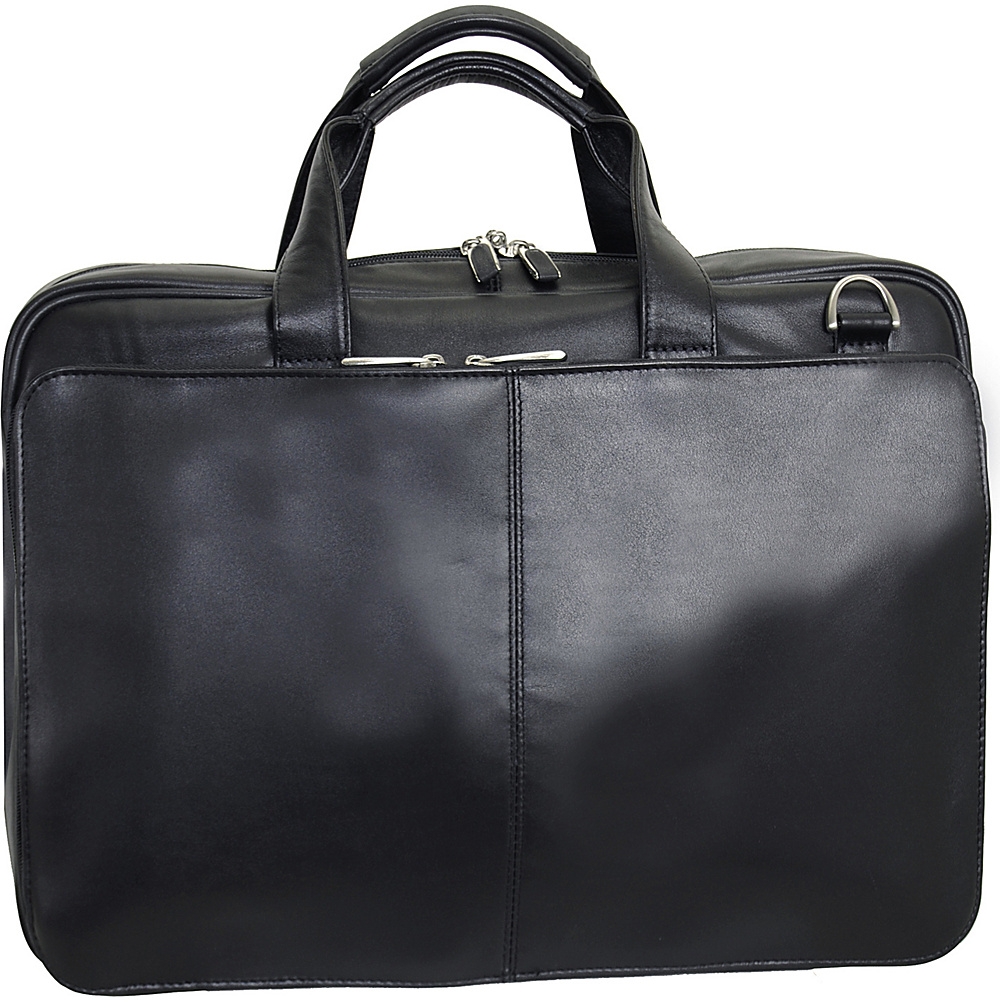 Netpack Leather Laptop Business case - Black - Work Bags & Briefcases, Non-Wheeled Business Cases