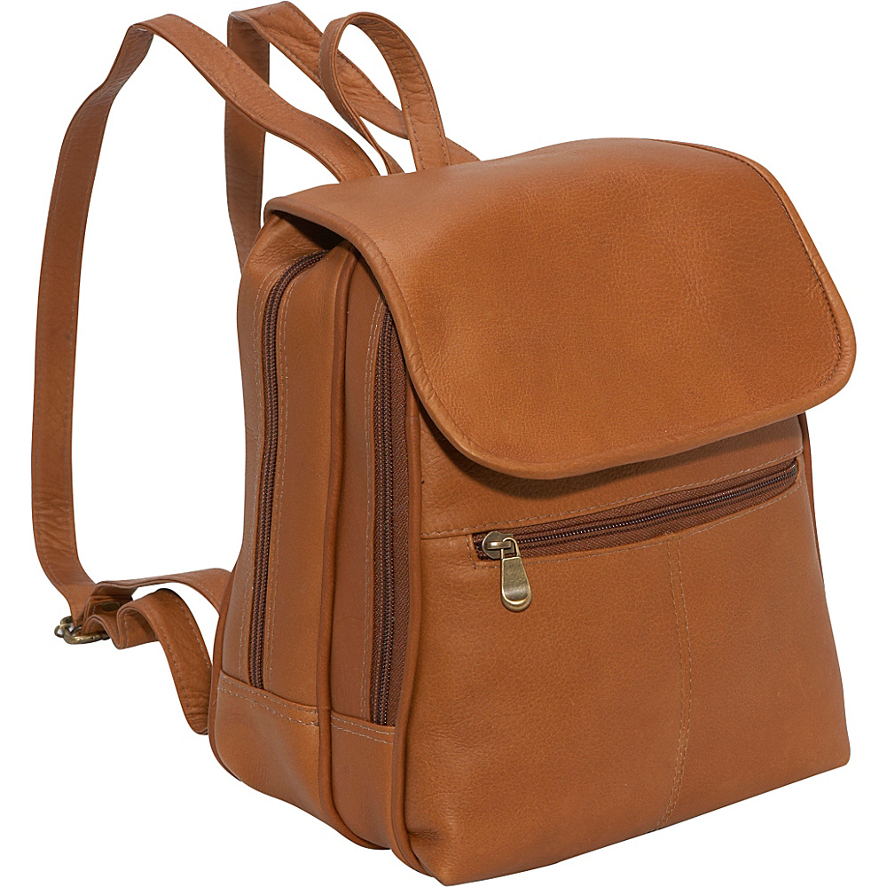 Le Donne Leather Everything Womans Backpack/Purse - Tan