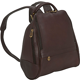 U Zip Mid Size Backpack/Purse Café