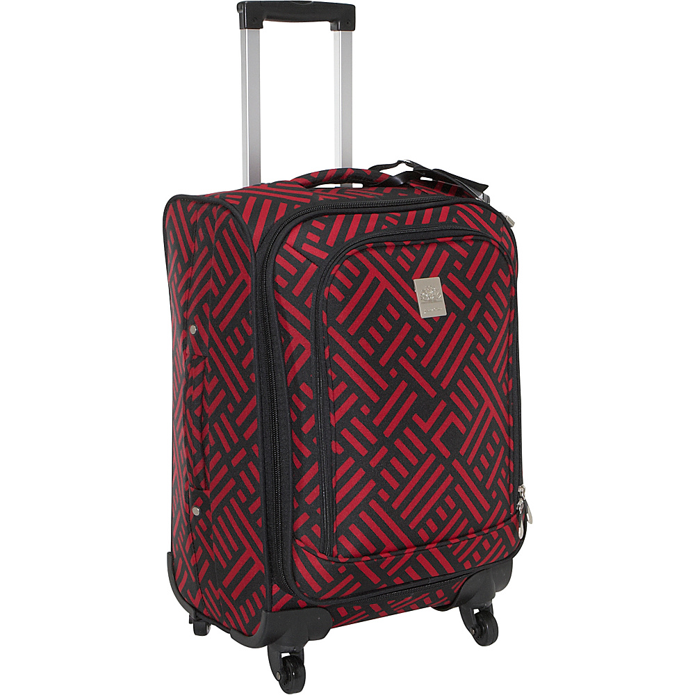 Jenni Chan Signature 20 Spinner - Black and Red - Luggage, Softside Carry-On