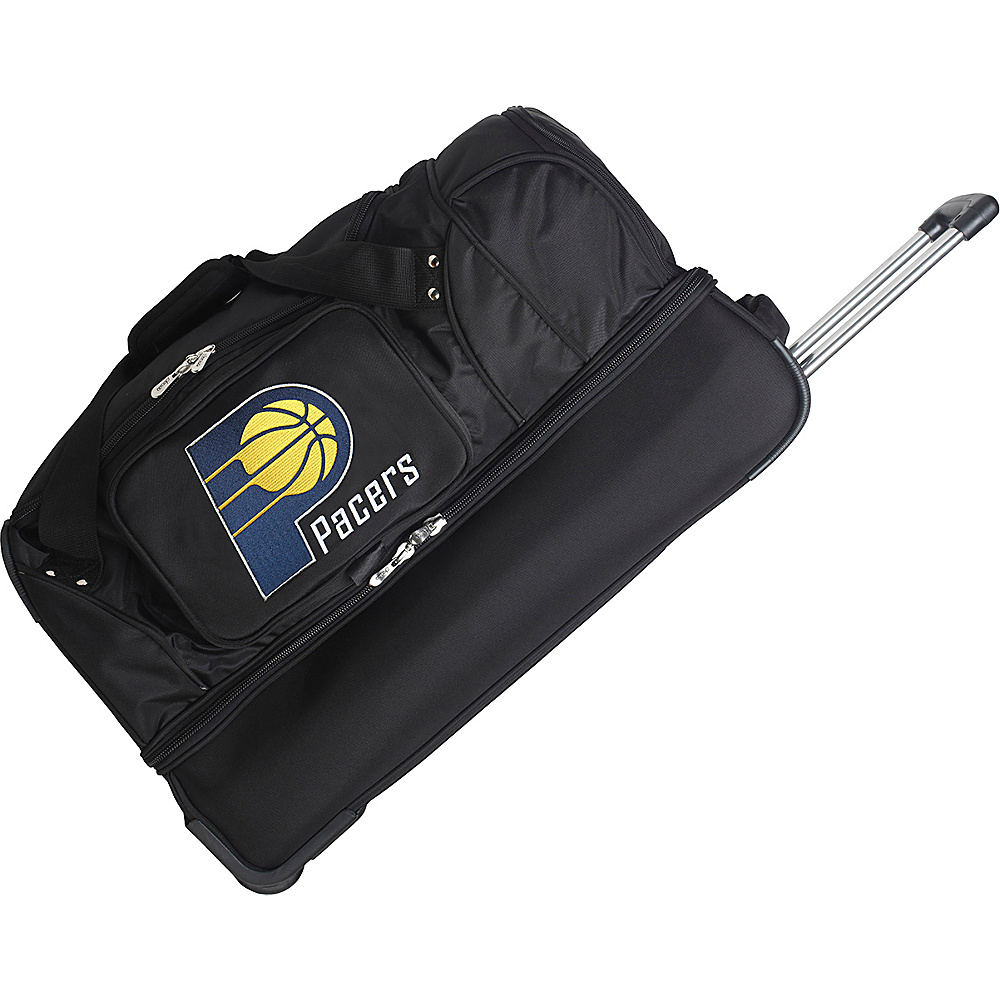Denco Sports Luggage Indiana Pacers 27 Rolling Drop - Luggage, Rolling Duffels