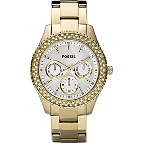 Fossil Ladies Stainless Steel Gold IP Stella Multifunction Watch Gold