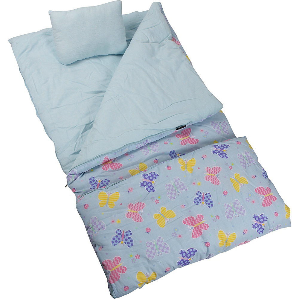 Wildkin Olive Kids Butterfly Garden Sleeping Bag - Travel Accessories, Travel Pillows & Blankets