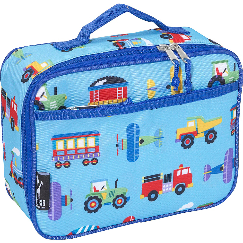 Wildkin Olive Kids Trains, Planes & Trucks Lunch Box - - Travel Accessories, Travel Coolers