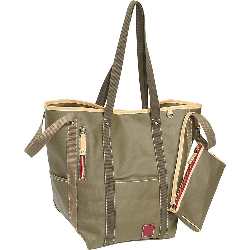 Clava Carina Two-Face Tote - Army - Handbags, Manmade Handbags