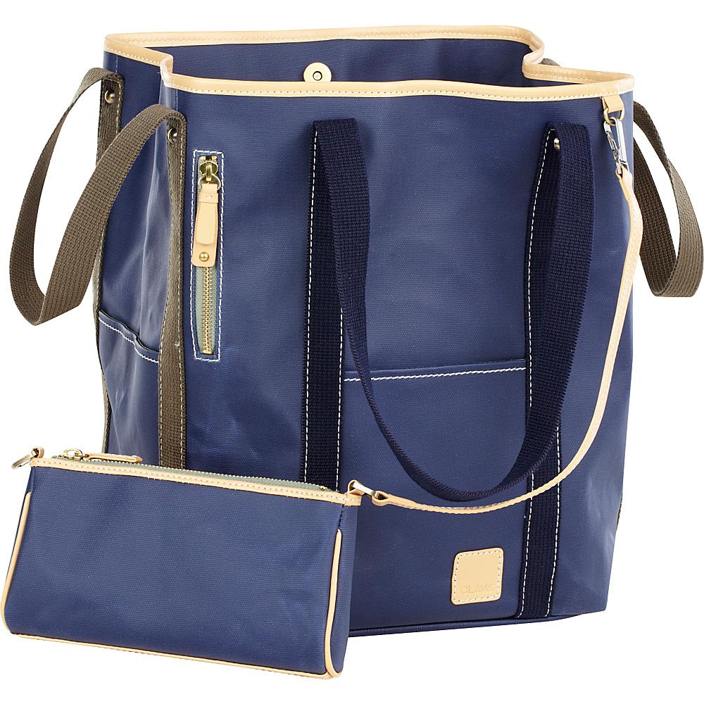 Clava Carina Two-Face Tote - Indigo - Handbags, Manmade Handbags