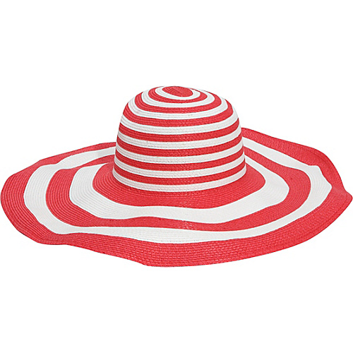 San Diego Hat 6 Inch Brim Sun Hat - coral/white