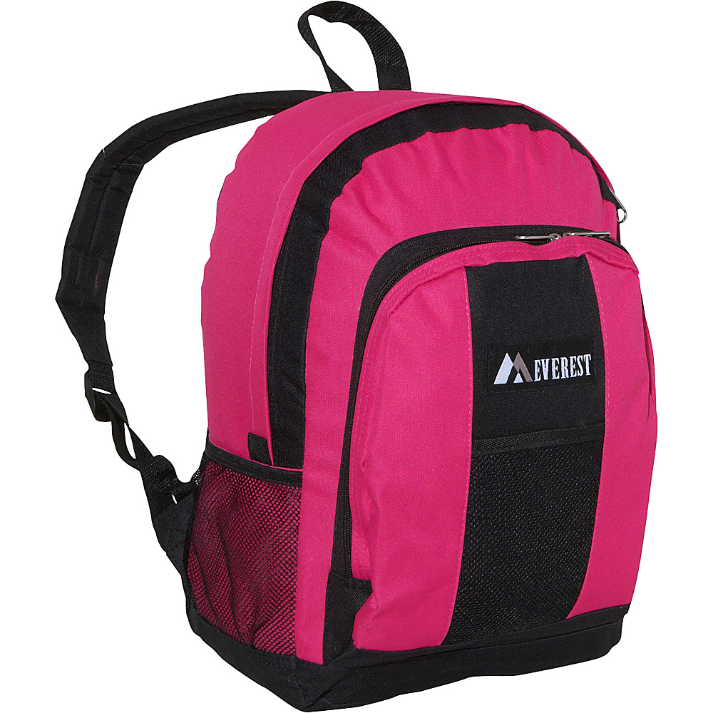 Everest Backpack with Front & Side Pockets - Hot Pink / - Backpacks, Everyday Backpacks