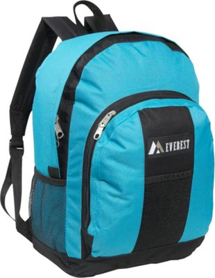 Everest Backpack with Front & Side Pockets Turquoise / Black - Everest Everyday Backpacks