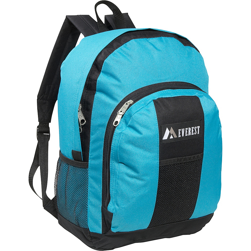 Everest Backpack with Front & Side Pockets Turquoise / Black - Everest Everyday Backpacks - Backpacks, Everyday Backpacks