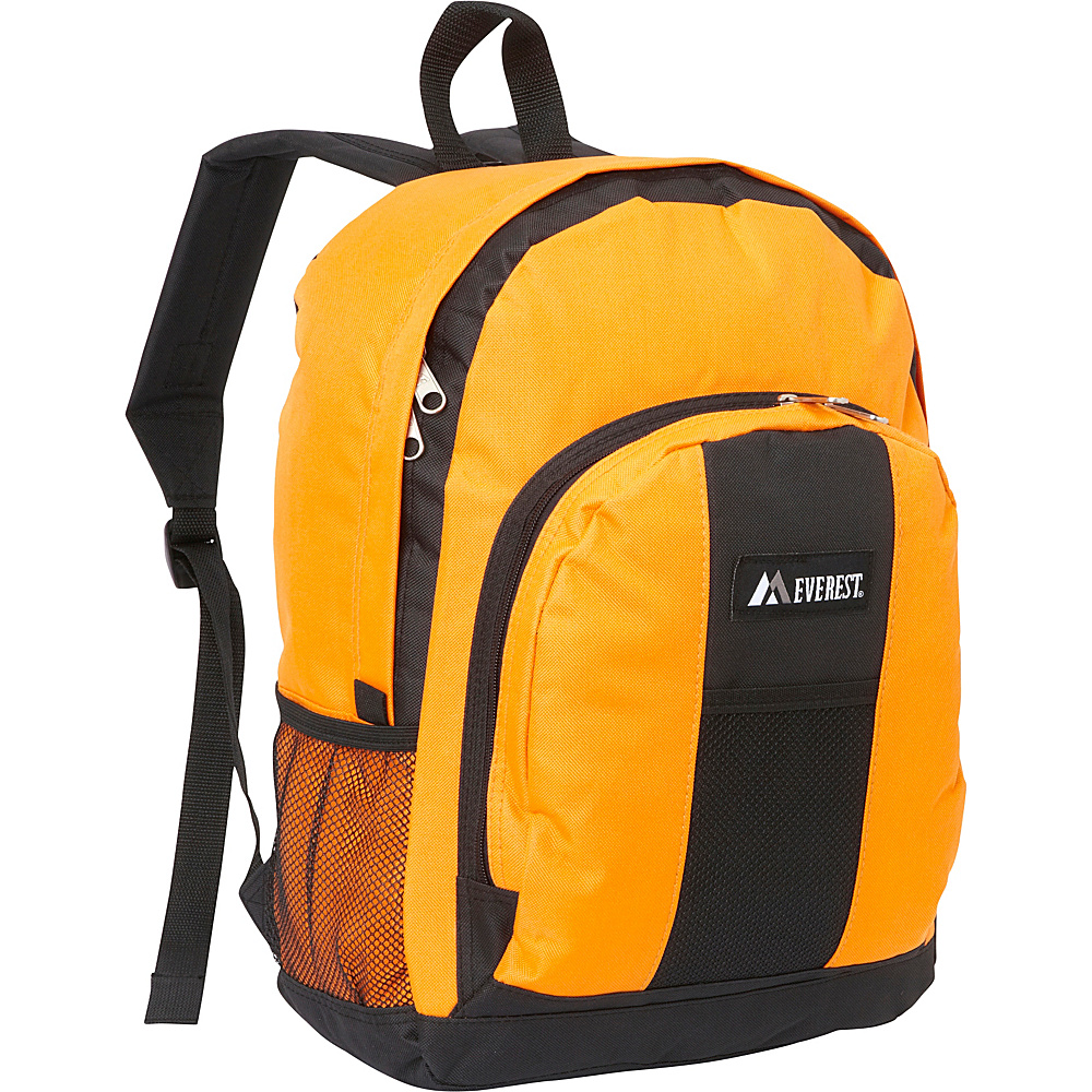 Everest Backpack with Front & Side Pockets Orange - Everest Everyday Backpacks - Backpacks, Everyday Backpacks