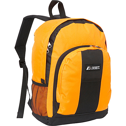 Everest Backpack with Front & Side Pockets Orange - Everest School & Day Hiking Backpacks