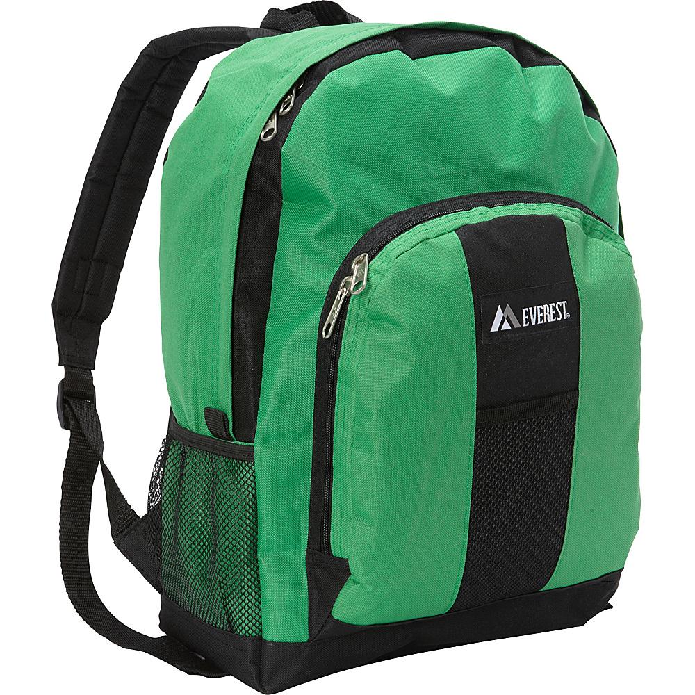Everest Backpack with Front & Side Pockets Emerald Green/Black - Everest Everyday Backpacks - Backpacks, Everyday Backpacks