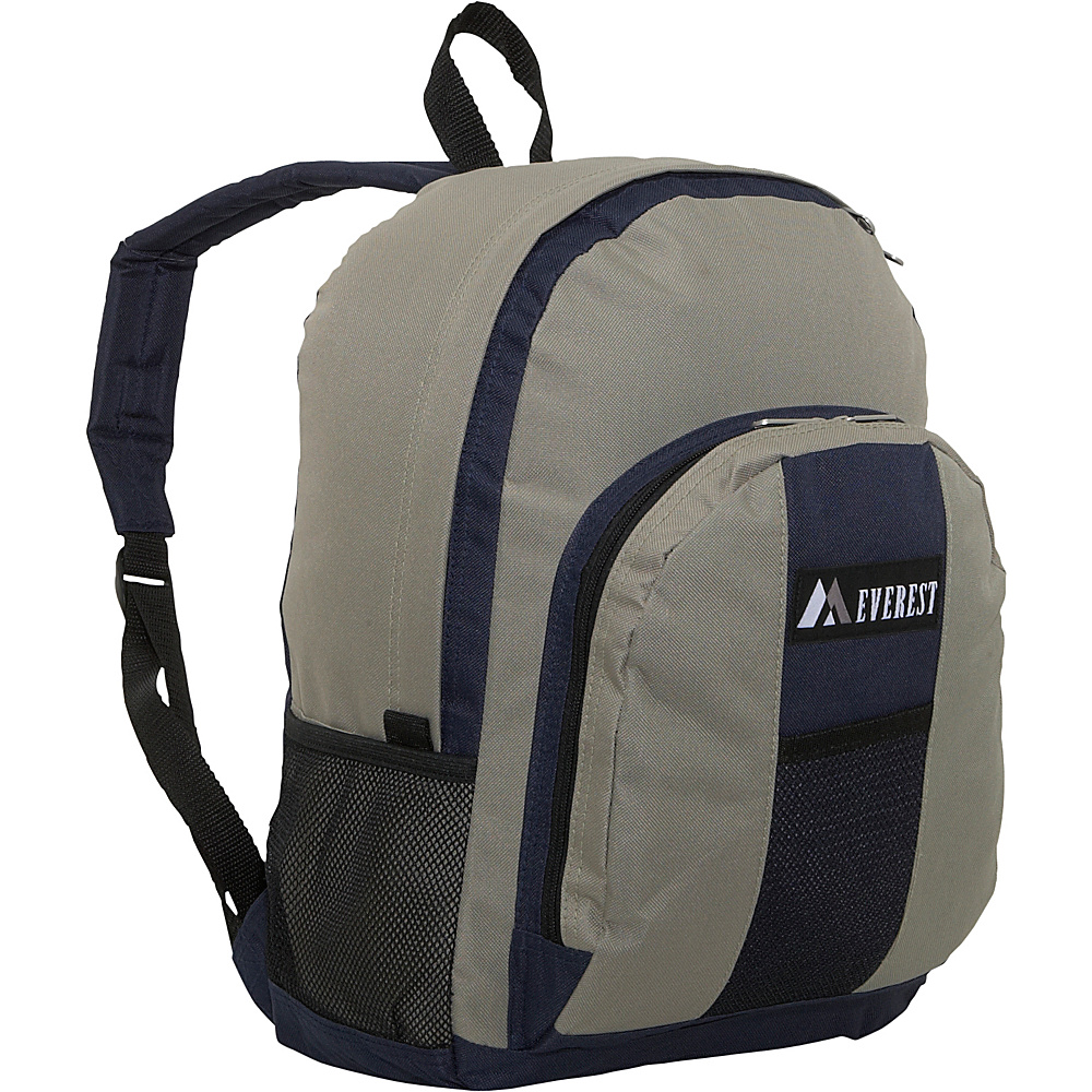 Everest Backpack with Front & Side Pockets - Navy/khaki - Backpacks, Everyday Backpacks