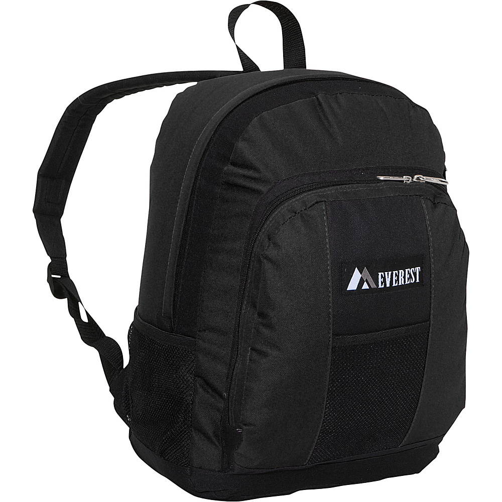 Everest Backpack with Front & Side Pockets - Black - Backpacks, Everyday Backpacks